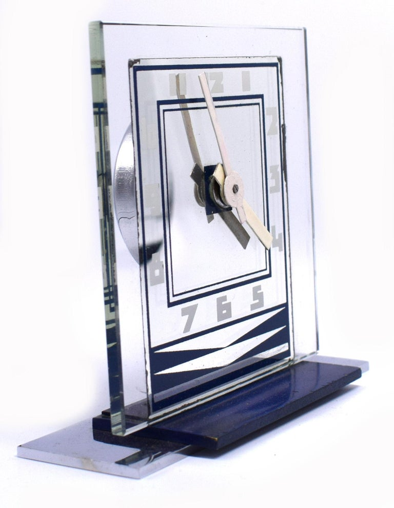 Rare 1930s Art Deco Modernist Alarm Clock by ATO For Sale 1