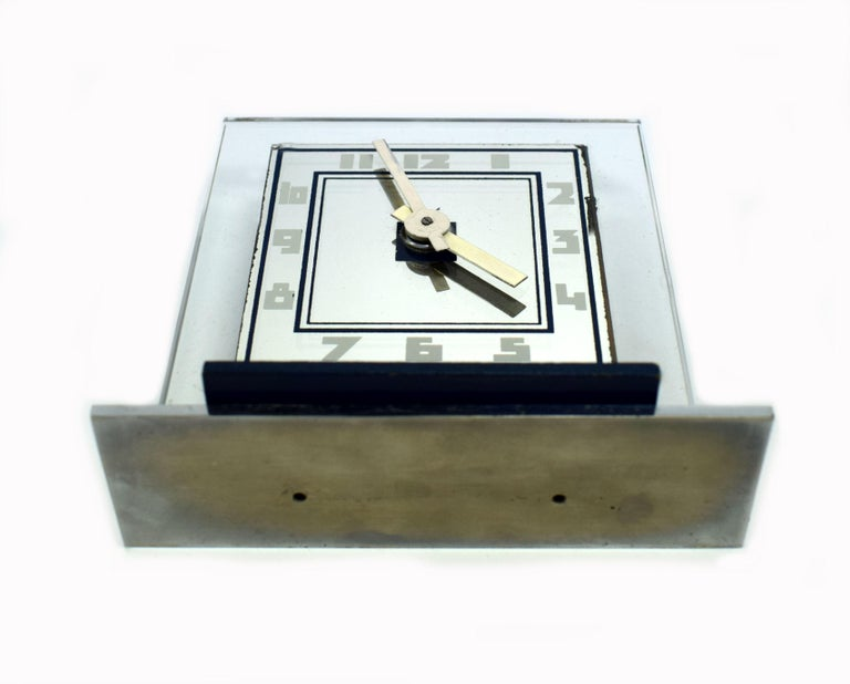 Rare 1930s Art Deco Modernist Alarm Clock by ATO For Sale 2