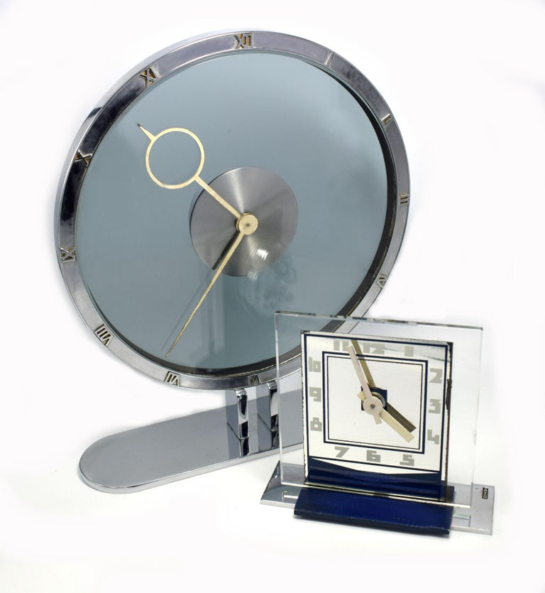 Rare 1930s Art Deco Modernist Alarm Clock by ATO For Sale 3