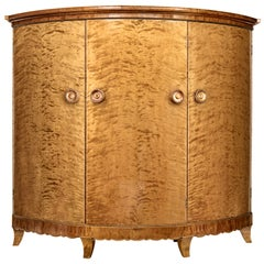 Rare 1930s Birch Cabinet of Grand Proportions Otto Schulz for Boet