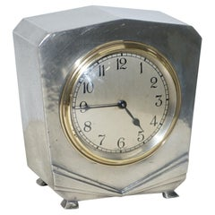 Rare 1936 Liberty's London Tudric Pewter Mantel Clock Highly Collectable Piece