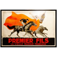 """Rare 1936 Poster by Robys: """"Premier Fils"""" Aperitif: Large Format"""