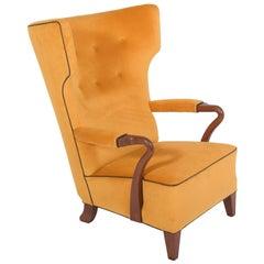 Rare 1938 Large Easy Chair by Bertil Söderberg