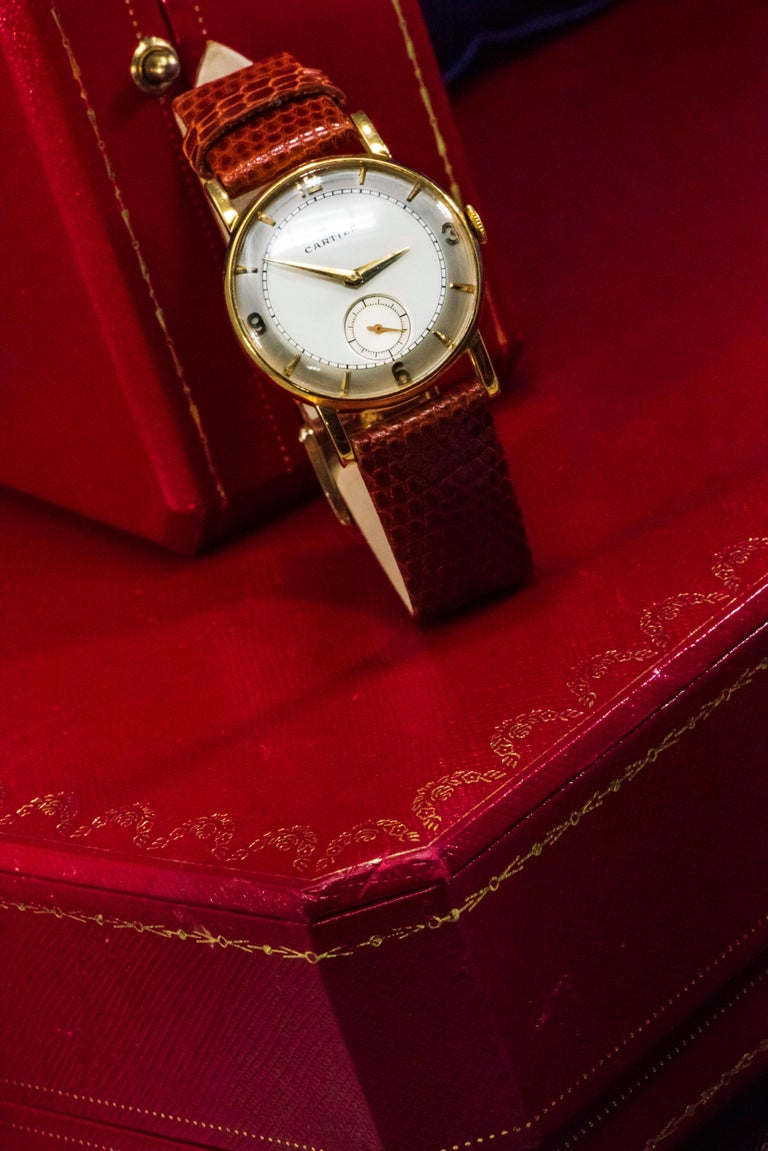 A Very Early & Rare  1940s-50s  Fresh To The Market Cartier & European Watch Company Two Tone