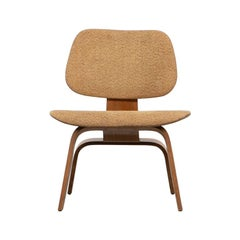 "Rare 1940s Ash Plywood and Fabric LCW Chair by Charles & Ray Eames ""G"""