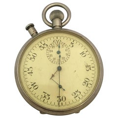 Rare 1940s Military Chronograph Stopwatch with Split-Seconds PATT. 4 No. 11643