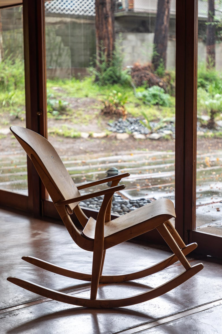Rare 1940s Rocking Chair By Ilmari Tapiovaara For Sale At