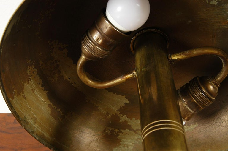Rare 1940s Scandinavian Postwar Swedish Modernist Table Lamp by Bohlmarks For Sale 7
