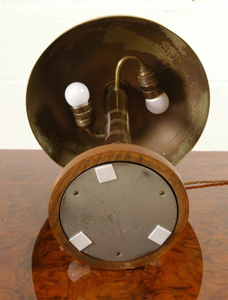 Rare 1940s Scandinavian Postwar Swedish Modernist Table Lamp by Bohlmarks For Sale 8