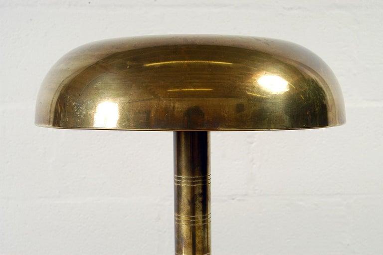 Brass Rare 1940s Scandinavian Postwar Swedish Modernist Table Lamp by Bohlmarks For Sale