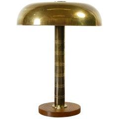 Rare 1940s Scandinavian Postwar Swedish Modernist Table Lamp by Bohlmarks