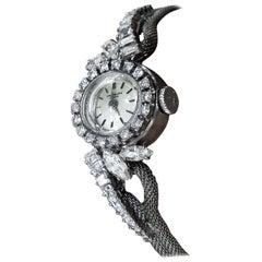 Rare 1950s-1960s Patek Philippe Platinum Triple Diamond Twist Motif Bracelet