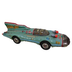 Rare 1950s Atom Jet #58 Tin Litho Friction Race Car Space Toy Yonezawa Japan