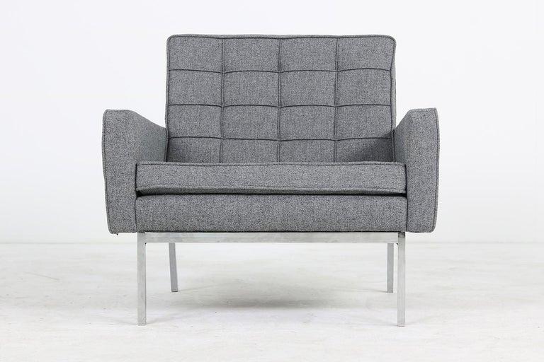 German Rare 1950s Florence Knoll Lounge Chair Mod. 65a Knoll International Armchair For Sale