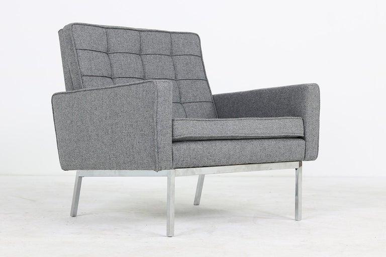 Mid-20th Century Rare 1950s Florence Knoll Lounge Chair Mod. 65a Knoll International Armchair For Sale