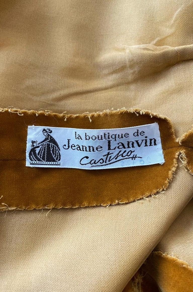 Rare 1950s Jeanne Lanvin - Castillo Demi Couture Beaded Velvet Set For Sale 6