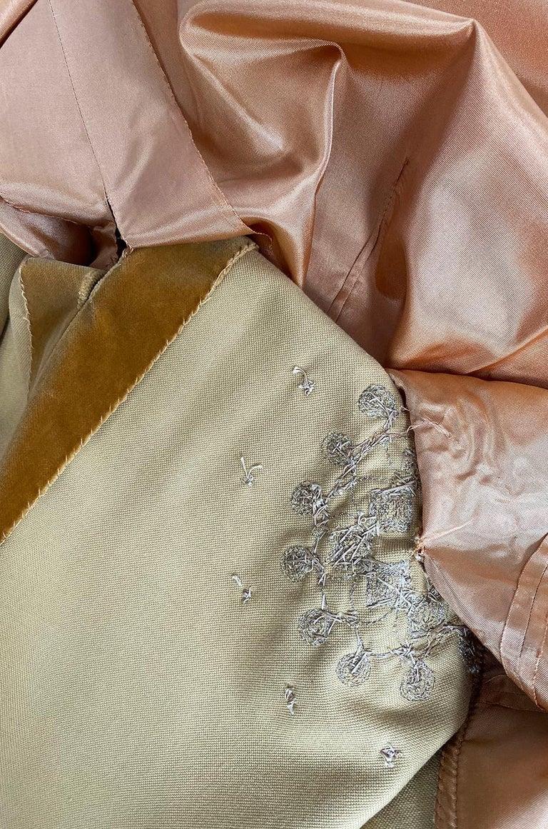 Rare 1950s Jeanne Lanvin - Castillo Demi Couture Beaded Velvet Set For Sale 7
