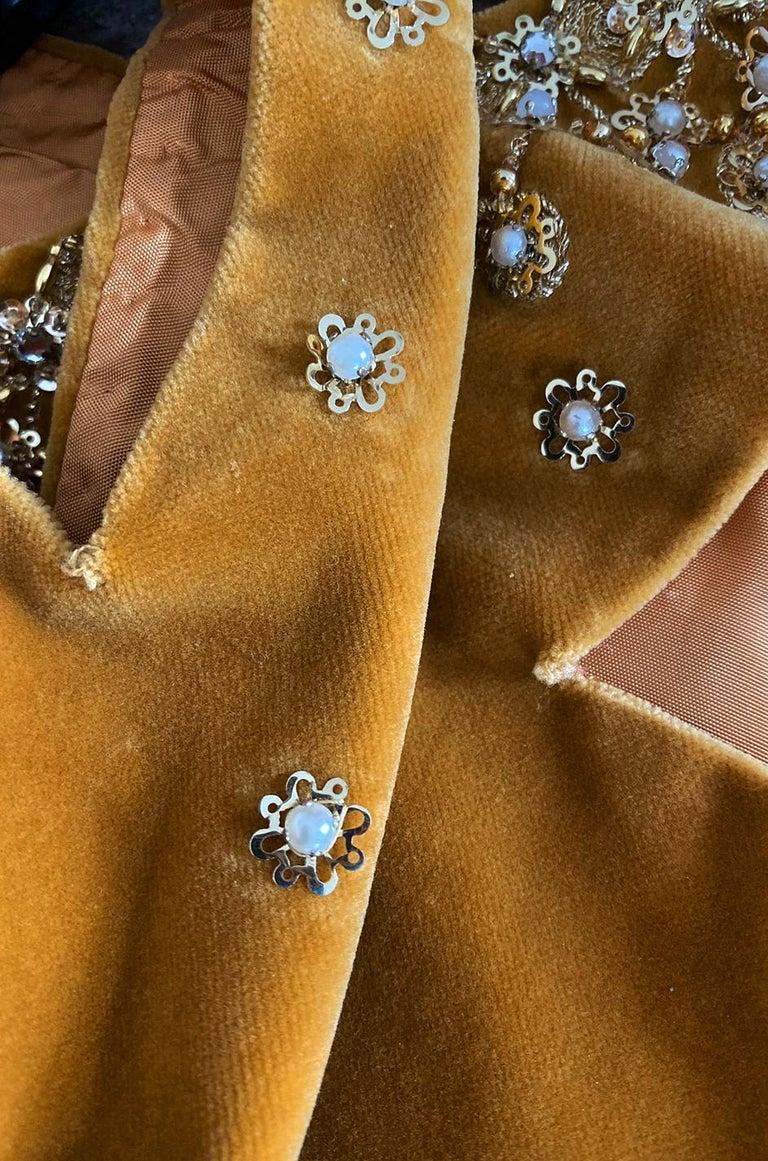 Rare 1950s Jeanne Lanvin - Castillo Demi Couture Beaded Velvet Set For Sale 8