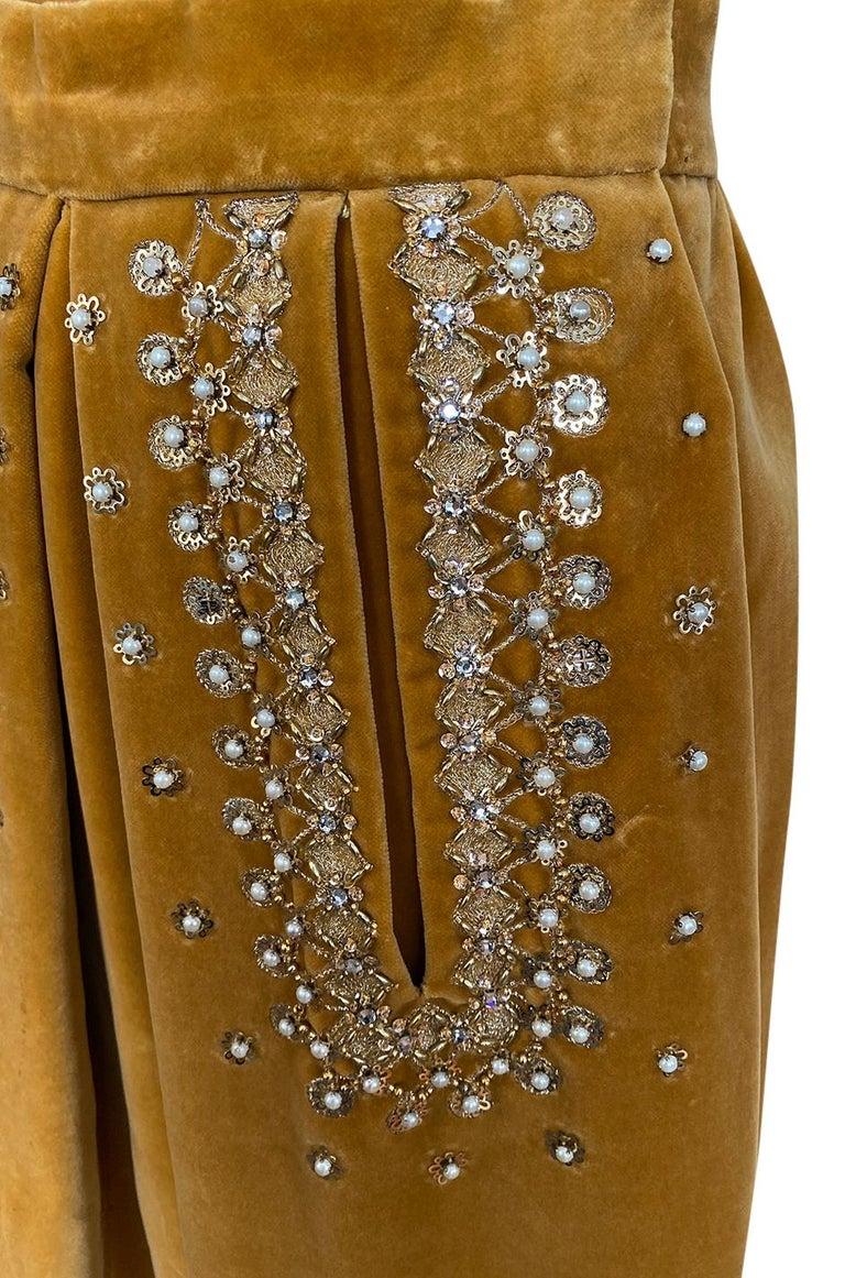 Rare 1950s Jeanne Lanvin - Castillo Demi Couture Beaded Velvet Set For Sale 5