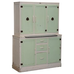 Rare 1950s Original Metal and Wood Kitchenpryde Larder Cupboard Stunning Patina