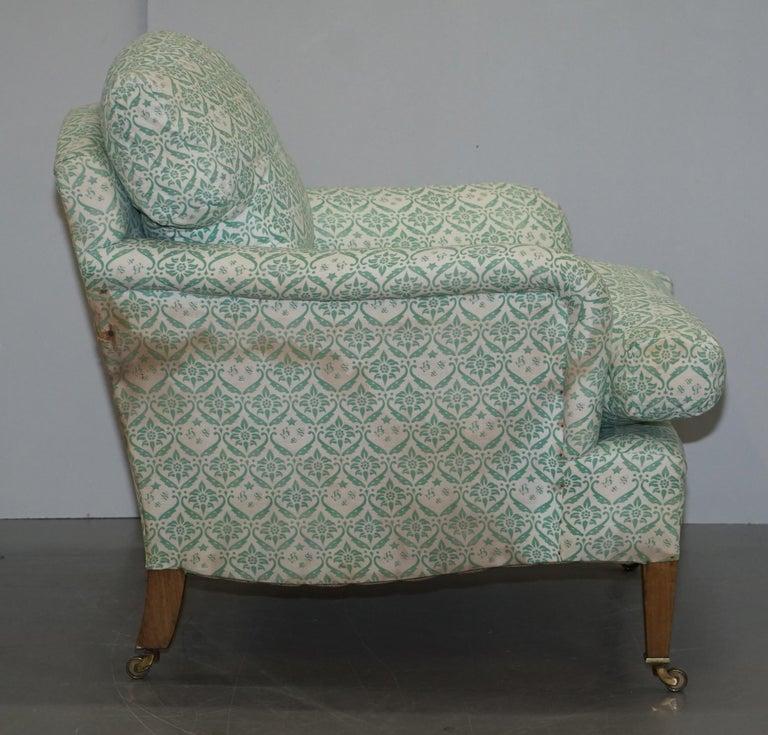Rare 1954-1959 Howard & Son's Lenygon & Morant Armchair Original Ticking Fabric For Sale 2