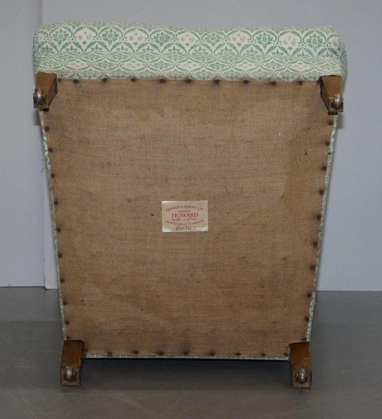 Rare 1954-1959 Howard & Son's Lenygon & Morant Armchair Original Ticking Fabric For Sale 5