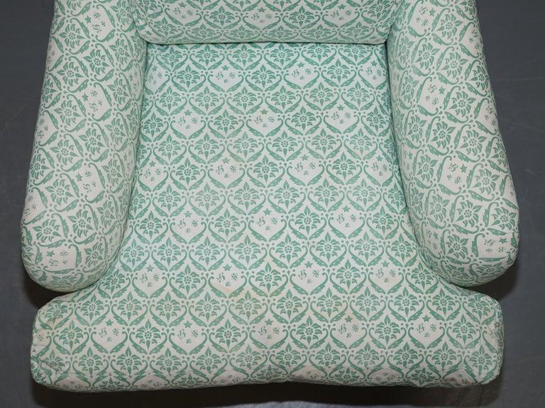 Mid-20th Century Rare 1954-1959 Howard & Son's Lenygon & Morant Armchair Original Ticking Fabric For Sale