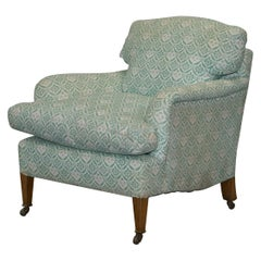 Rare 1954-1959 Howard & Son's Lenygon & Morant Armchair Original Ticking Fabric