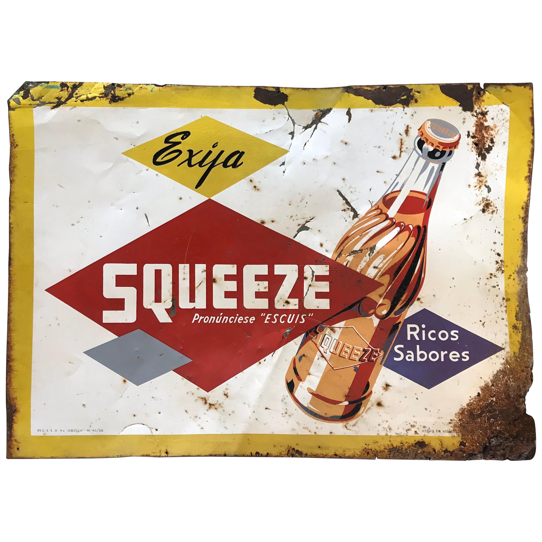 Vintage 1956 Mexican Soda Tin Sign
