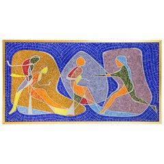Rare 1960s Glass Mosaic Wall Decoration