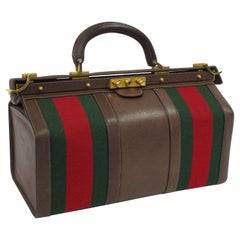 Rare 1960's  Gucci Brown Leather Doctor Bag