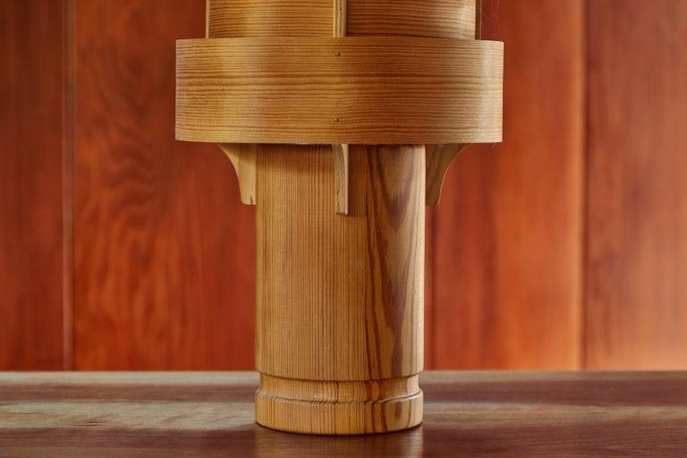 Rare 1960s Hans-Agne Jakobsson Model 243 Wood Table Lamp for AB Ellysett For Sale 1