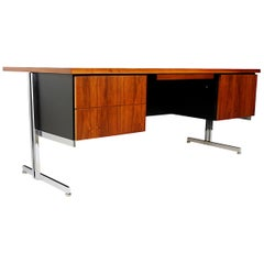Rare 1960s Mid-Century Modern Minimalist Executive Desk by Hugh Acton for Vecta