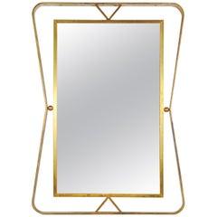 Rare 1960s Mirror by Gilbert Poillerat