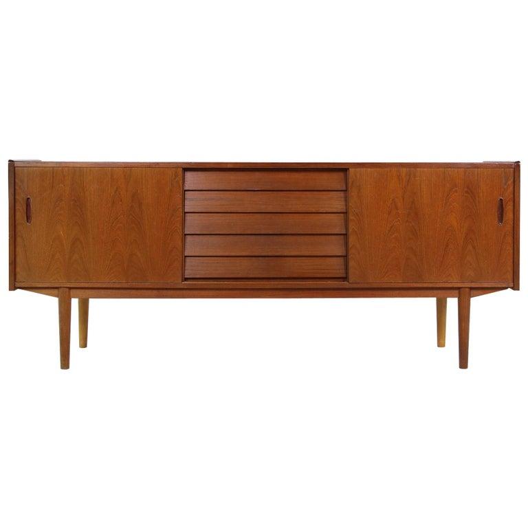 Rare 1960s Nils Jonsson Vintage Teak Sideboard Modern Trio for Troeds, Sweden For Sale
