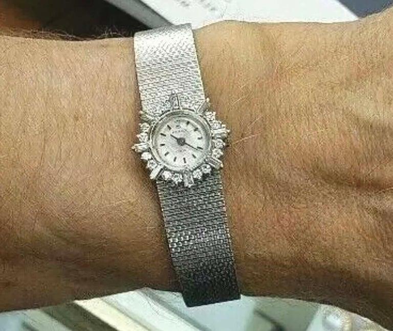 Retro Rare 1960s Rolex 18 Karat Double Diamond