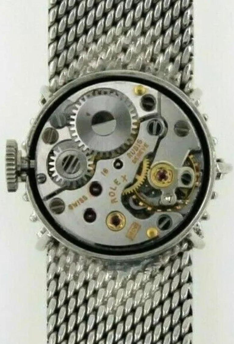 Rare 1960s Rolex 18 Karat Double Diamond