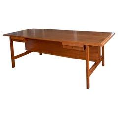 Rare 1960's Teak Writing Desk by Hans Wegner