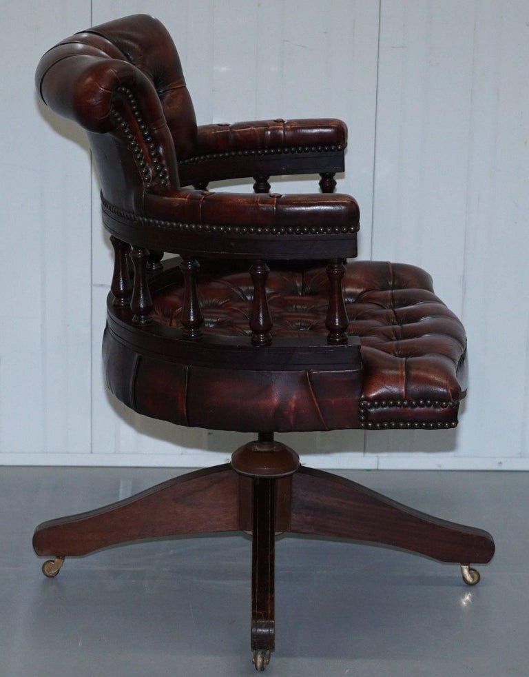 Rare 1967 Stamped Chesterfield Oxblood Leather Captains