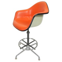 Rare 1970 Charles Eames Herman Miller Arm Shell Drafting Chair