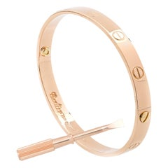 Rare 1970 Rose Gold Aldo Cipullo Love Bracelet 18 Karat Rose Gold
