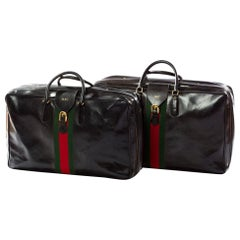 Rare 1970s Gucci Leather Luggage Set