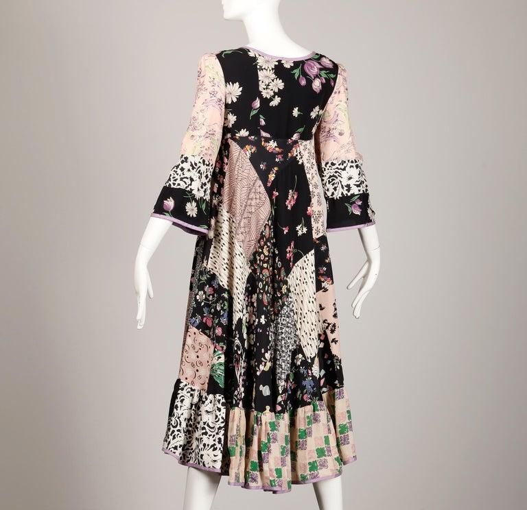 Rare 1970s Helga Howie Vintage Patchwork Dress 5