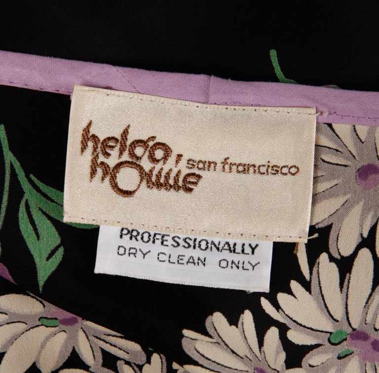 Black Rare 1970s Helga Howie Vintage Patchwork Dress