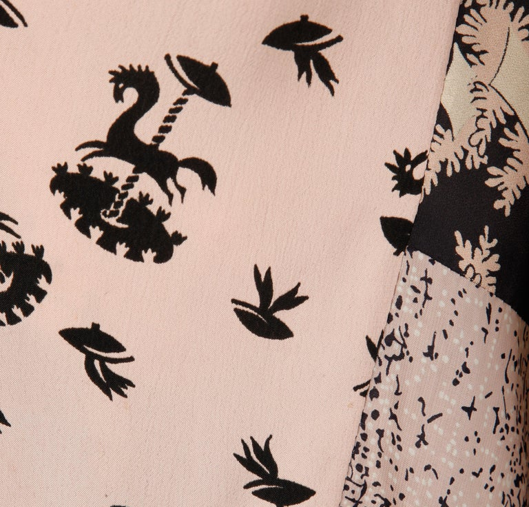 Women's Rare 1970s Helga Howie Vintage Patchwork Dress