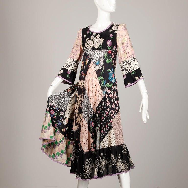 Rare 1970s Helga Howie Vintage Patchwork Dress 1