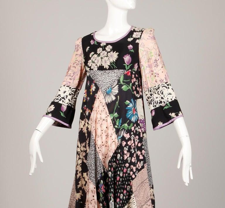 Rare 1970s Helga Howie Vintage Patchwork Dress 3
