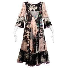 Rare 1970s Helga Howie Vintage Patchwork Dress