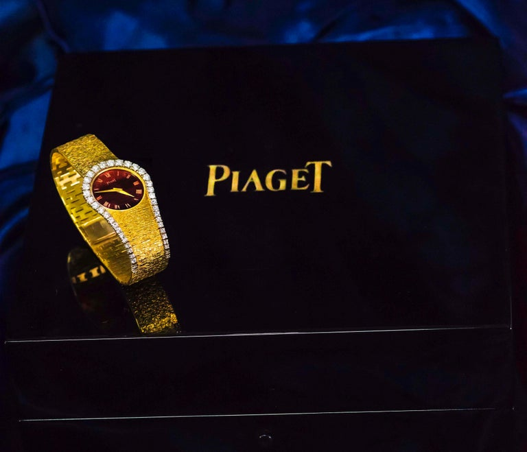 Rare 1970s Piaget Tiger Eye Diamond Set