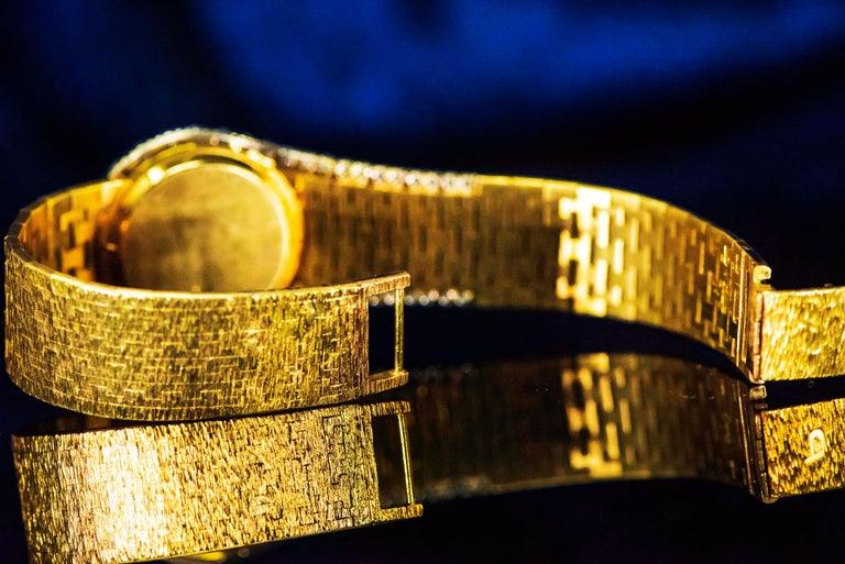 Women's or Men's Rare 1970s Piaget Tiger Eye Diamond Set